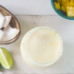 Mango Swirled Coconut Margarita #BrunchWeek