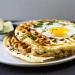 Savory Pancetta and Cheddar Waffles #BrunchWeek