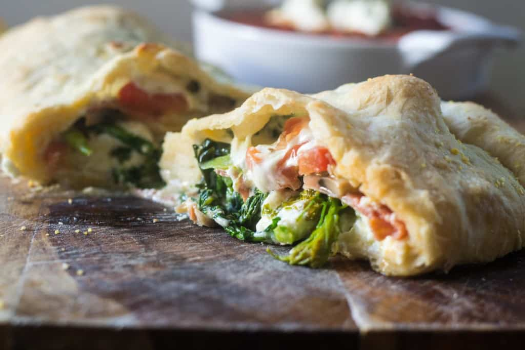 Calzones Stuffed with Broccoli Rabe and Ricotta | The Little Ferraro ...