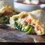 Calzones Stuffed with Broccoli Rabe and Ricotta