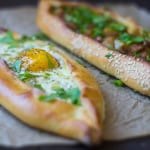 Turkish Pide (Turkish Pizza with 2 Different Fillings)