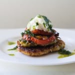 Roasted Garlic Caprese Latkes