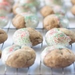 Ginger Molasses Cookies with White Chocolate