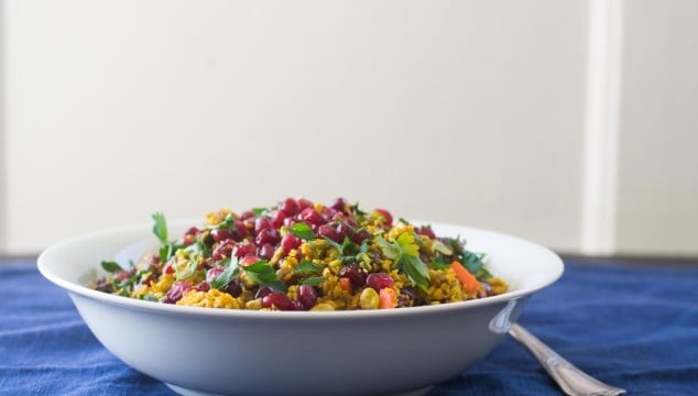 Jeweled Cauliflower Rice with Pomegranate and Pistachios + Some Big News!