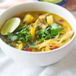 Vegetable Green Curry Soup and We Moved!
