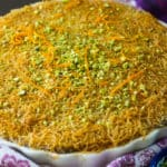 Kanafe with Ricotta and Shredded Phyllo
