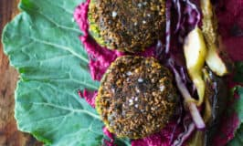 Falafel Collard Wrap With All The Fillings