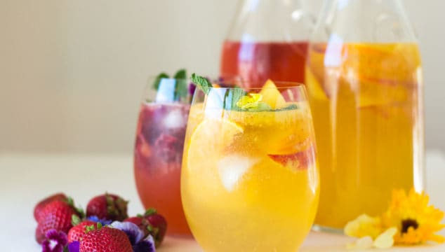 Fruity and Floral Sangria- Two Ways!