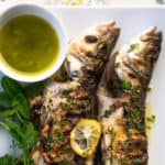 Grilled Branzino with Lemon and Fresh Herbs