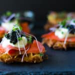 Parsnip Latkes with Creme Fraiche and Caviar