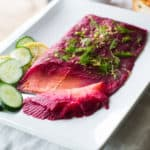 Beet and Dill Cured Lox