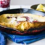 Raspberry Lemon Dutch Baby Pancake
