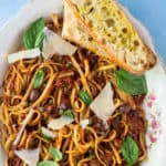 Linguini Puttanesca with Beaujolais Wine