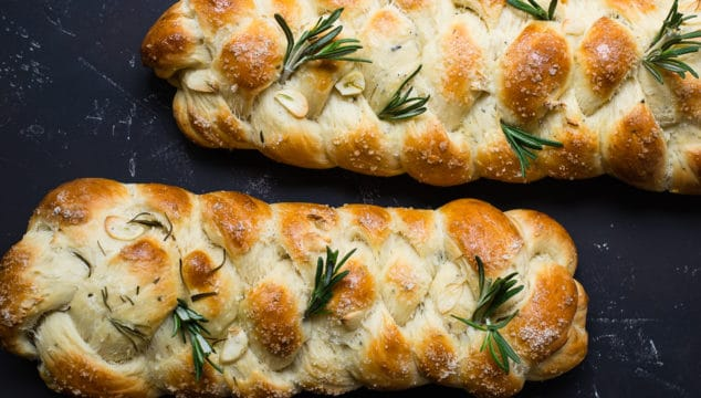 Garlic Rosemary Challah