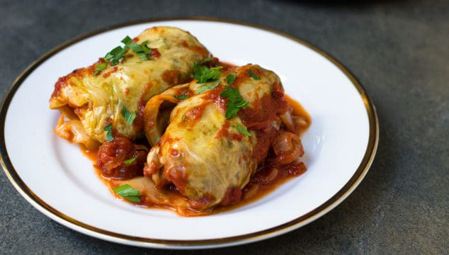 Sweet and Sour Stuffed Cabbage Rolls