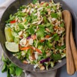 Crunchy Asian Cabbage Slaw with Peanut Dressing
