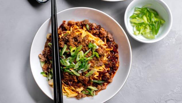 Dan Dan Noodles: Spicy Szechuan Noodles with Chili Oil