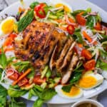 Rice Noodle Salad with Vietnamese Grilled Lemongrass Chicken