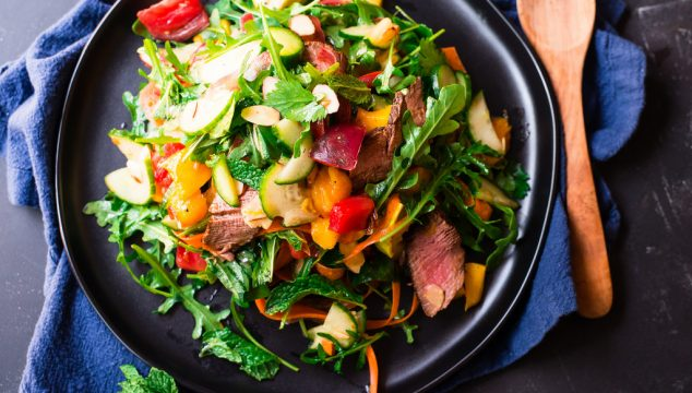 Thai Steak Salad with Mango, Herbs and Sweet and Sour Vinaigrette