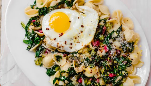 Orecchiette with Swiss Chard, Parmesan and Lemon