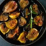 Red Wine Roasted Figs with Honey and Rosemary is the perfect accompaniment for your cheese board or spoon over ricotta or Greek yogurt.