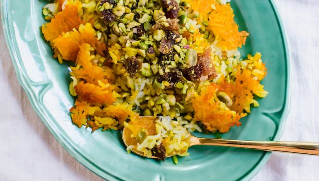 Persian Rice with Dates and Pistachios