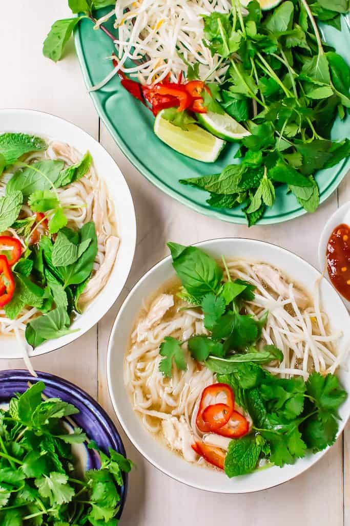Pressure cooker chicken pho is made in under 30 minutes with all the same flavors.