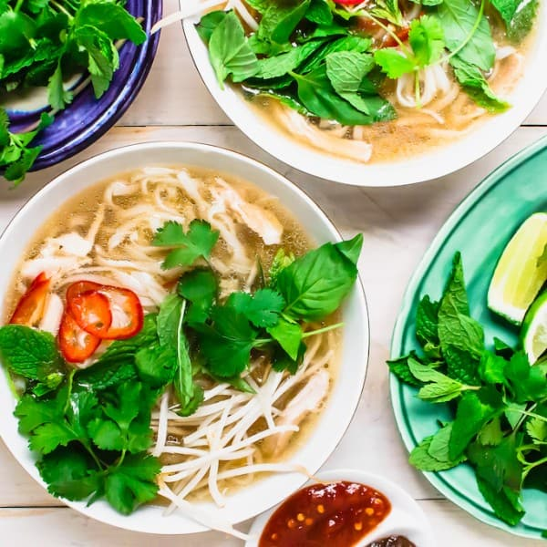 Chicken Pho is an aromatic Vietnamese soup with flavors of clove and cinnamon. Usually taking hours, this pressure cooker chicken pho recipe is made within 30 minutes.