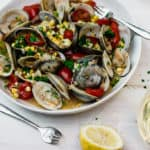 Steamed Clams with Corn and Tomatoes
