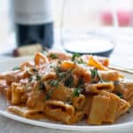 Penne Alla Vodka with Parmigiano and Fresh Oregano (Vodka Pink Sauce)