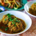 Percian Meatballs (Koofteh) in Turmeric Tomato Broth