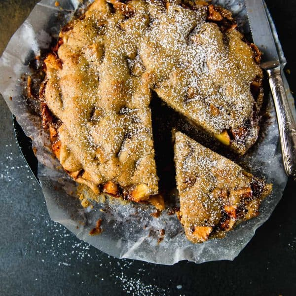 The perfect fall apple cake, seasoned with floral and earthy cardamom, bright orange zest and loaded with chunks of sweet apples. And perfect to serve alongside your favorite warm drink.