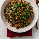 "A decadent and impressive spiced rice dish that literally translates to ""stuffing"". Layered with warm spices of cinnamon and allspice, savory ground beef and toasted pine nuts."