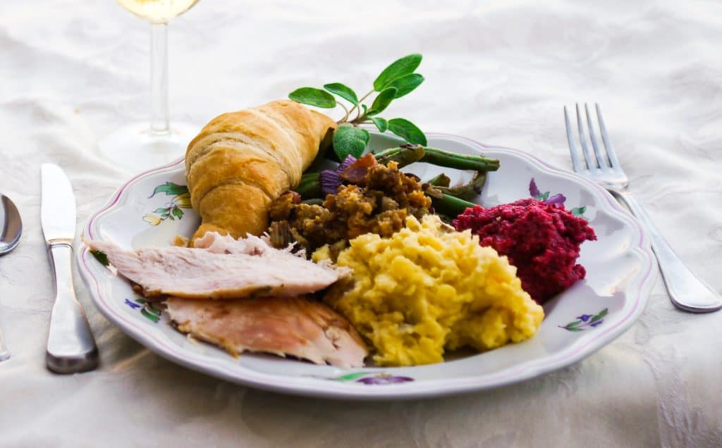 The ultimate guide for Thanksgiving dinner for two. Including all the traditional favorite side dishes and succulent herb turkey.