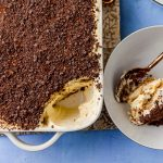 Classic tiramisu recipe layered with flavors of espresso and amaretto for an extra pop of flavor. Creamy, decadent and slightly nutty from the almond liquor, this is a recipe everyone should have in their repertoire.